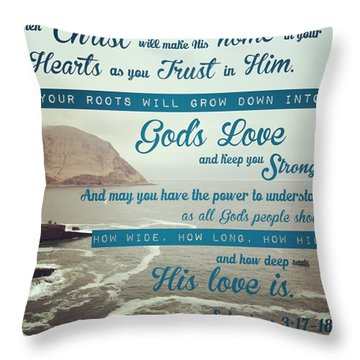 And This Is God's Plan: Both Gentiles Throw Pillow