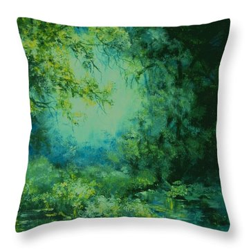 And Time Stood Still Throw Pillow by Mary Wolf