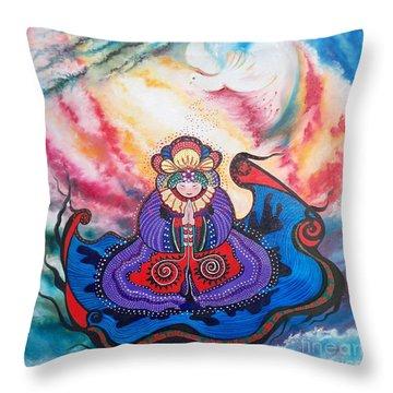 Flygende Lammet      And We Pray Throw Pillow