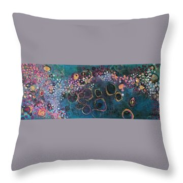 Throw Pillow featuring the painting And Yet You Are Loved by Laurie Maves ART