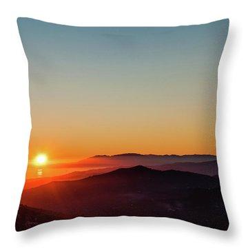 Andalucian Sunset Throw Pillow