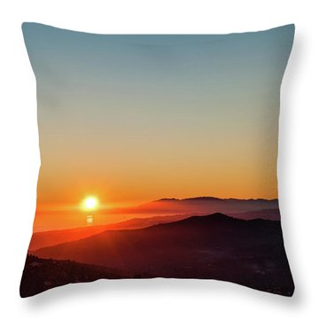 Andalucian Sunset Throw Pillow