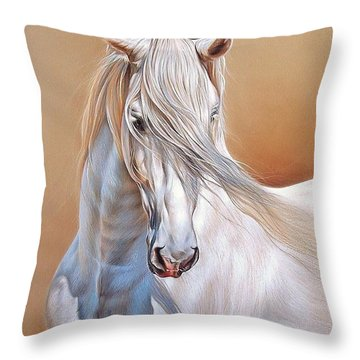 Andalusian Throw Pillow by Elena Kolotusha