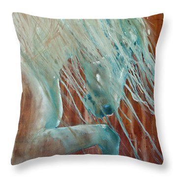 Throw Pillow featuring the painting Andalusian Stallion by Jani Freimann