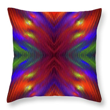 Throw Pillow featuring the digital art Andee Design Abstract 1 2015 by Andee Design