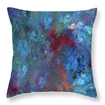 Throw Pillow featuring the digital art Andee Design Abstract 1 2017 by Andee Design
