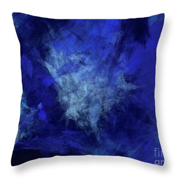 Throw Pillow featuring the digital art Andee Design Abstract 10 2018 by Andee Design