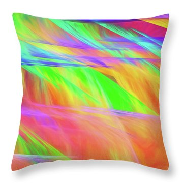 Throw Pillow featuring the digital art Andee Design Abstract 11 2018 by Andee Design