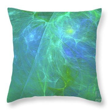 Throw Pillow featuring the digital art Andee Design Abstract 12 2018 by Andee Design