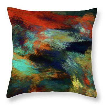 Throw Pillow featuring the digital art Andee Design Abstract 14 2018 by Andee Design