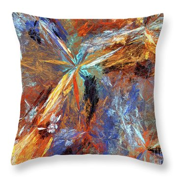 Throw Pillow featuring the digital art Andee Design Abstract 15 2018 by Andee Design