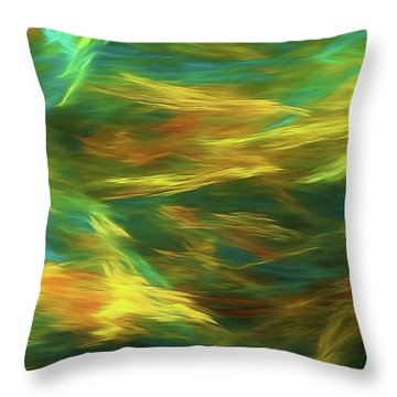 Throw Pillow featuring the digital art Andee Design Abstract 16 D 2018 by Andee Design