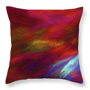 Throw Pillow featuring the digital art Andee Design Abstract 18 2018 by Andee Design