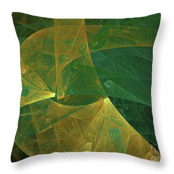 Throw Pillow featuring the digital art Andee Design Abstract 19 2018 by Andee Design
