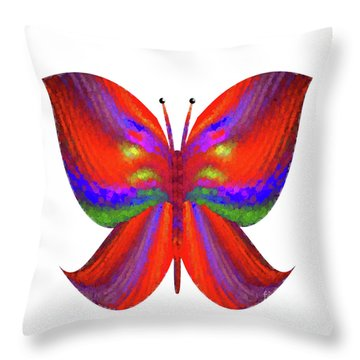 Throw Pillow featuring the digital art Andee Design Abstract 2 2015 by Andee Design