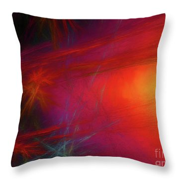 Throw Pillow featuring the digital art Andee Design Abstract 21 2018 by Andee Design