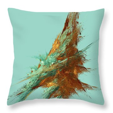 Throw Pillow featuring the digital art Andee Design Abstract 22 2018 by Andee Design