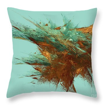 Throw Pillow featuring the digital art Andee Design Abstract 23 2018 by Andee Design