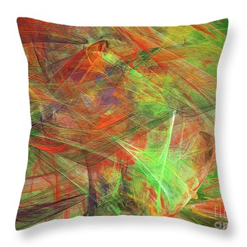 Throw Pillow featuring the digital art Andee Design Abstract 24 2018 by Andee Design