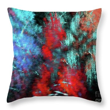 Throw Pillow featuring the digital art Andee Design Abstract 25 2018 by Andee Design