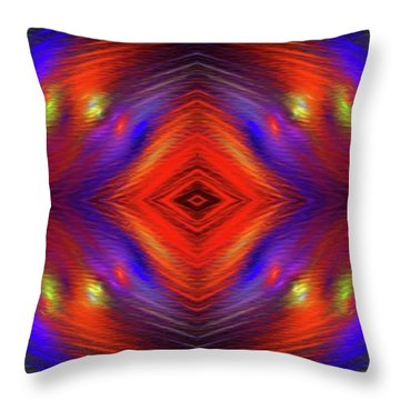 Throw Pillow featuring the digital art Andee Design Abstract 3 2015 by Andee Design
