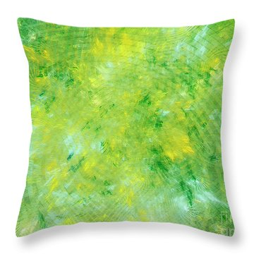 Throw Pillow featuring the digital art Andee Design Abstract 3 2018 by Andee Design
