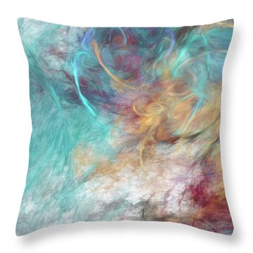 Throw Pillow featuring the digital art Andee Design Abstract 4 2015 by Andee Design