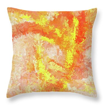 Throw Pillow featuring the digital art Andee Design Abstract 4 2018 by Andee Design