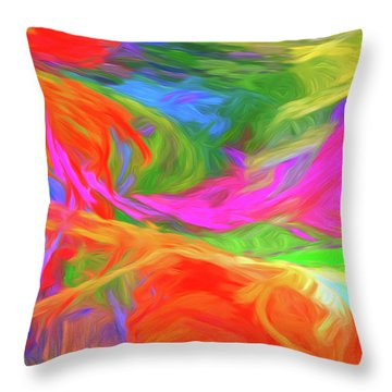 Throw Pillow featuring the digital art Andee Design Abstract 5 2015 by Andee Design