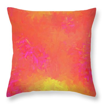 Throw Pillow featuring the digital art Andee Design Abstract 5 2018 by Andee Design