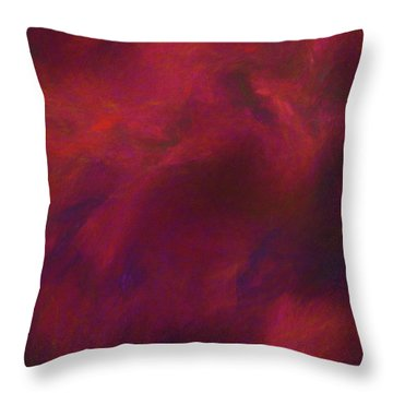 Throw Pillow featuring the digital art Andee Design Abstract 50 2017 by Andee Design