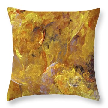 Throw Pillow featuring the digital art Andee Design Abstract 51 2017 by Andee Design