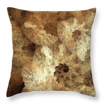 Throw Pillow featuring the digital art Andee Design Abstract 52 2017 by Andee Design