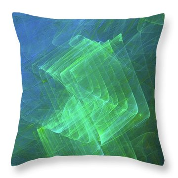 Throw Pillow featuring the digital art Andee Design Abstract 53 2017 by Andee Design