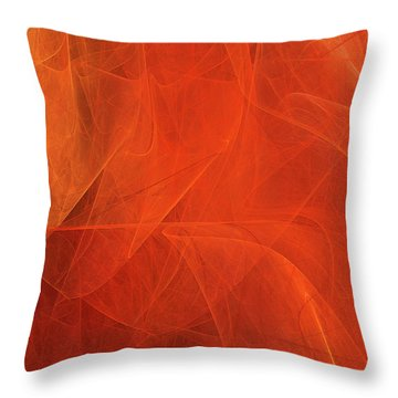 Throw Pillow featuring the digital art Andee Design Abstract 54 2017 by Andee Design