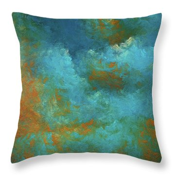 Throw Pillow featuring the digital art Andee Design Abstract 55 2017 by Andee Design