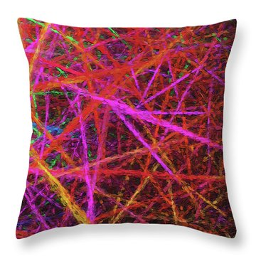 Throw Pillow featuring the digital art Andee Design Abstract 56 2017 by Andee Design