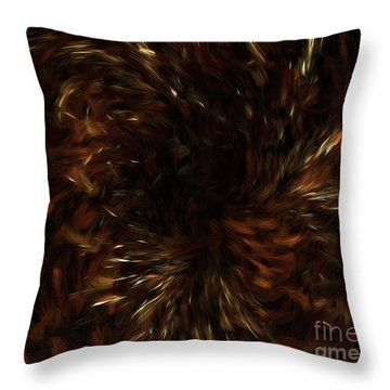 Throw Pillow featuring the digital art Andee Design Abstract 57 2017 by Andee Design