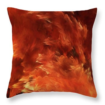 Throw Pillow featuring the digital art Andee Design Abstract 59 2017 by Andee Design