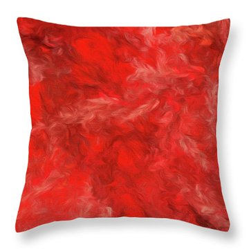 Throw Pillow featuring the digital art Andee Design Abstract 6 2015 by Andee Design