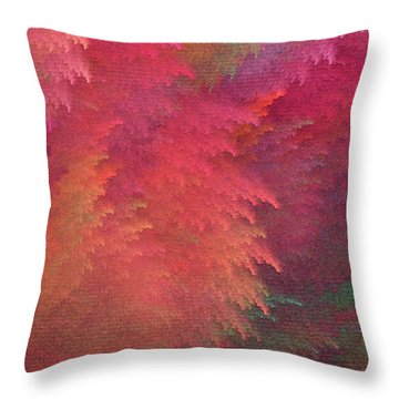 Throw Pillow featuring the digital art Andee Design Abstract 6 2018 by Andee Design