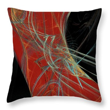 Throw Pillow featuring the digital art Andee Design Abstract 60 2017 by Andee Design