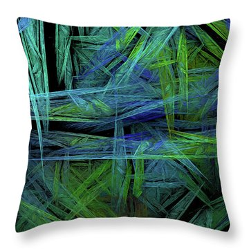 Throw Pillow featuring the digital art Andee Design Abstract 61 2017 by Andee Design