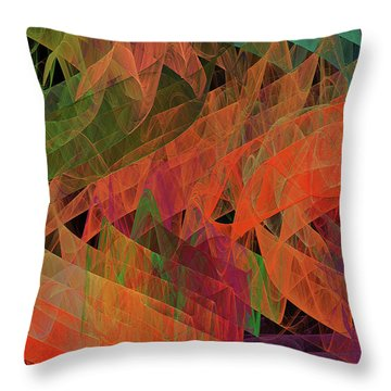 Throw Pillow featuring the digital art Andee Design Abstract 62 2017 by Andee Design