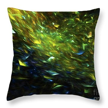 Throw Pillow featuring the digital art Andee Design Abstract 63 2017 by Andee Design