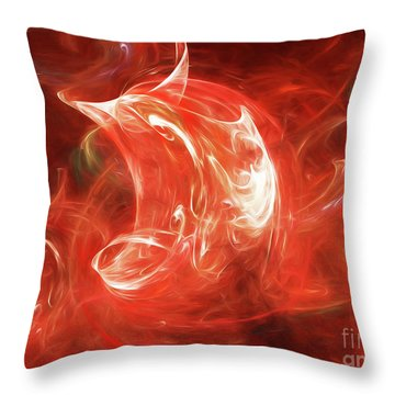 Throw Pillow featuring the digital art Andee Design Abstract 64 2017 by Andee Design