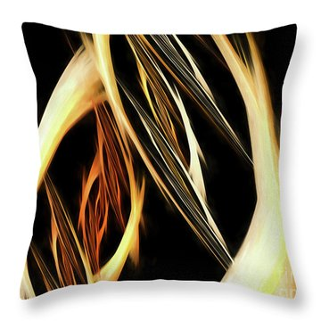 Throw Pillow featuring the digital art Andee Design Abstract 65 2017 by Andee Design