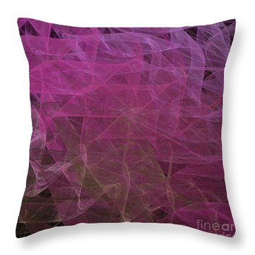Throw Pillow featuring the digital art Andee Design Abstract 67 2017 by Andee Design