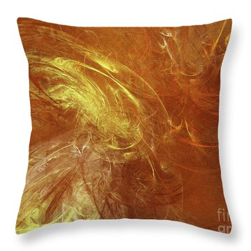 Throw Pillow featuring the digital art Andee Design Abstract 68 2017 by Andee Design