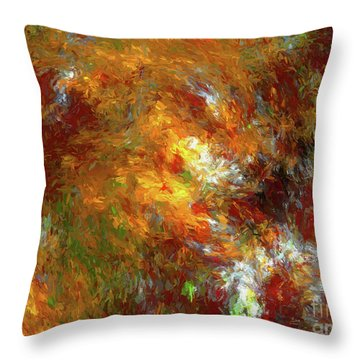 Throw Pillow featuring the digital art Andee Design Abstract 69 2017 by Andee Design